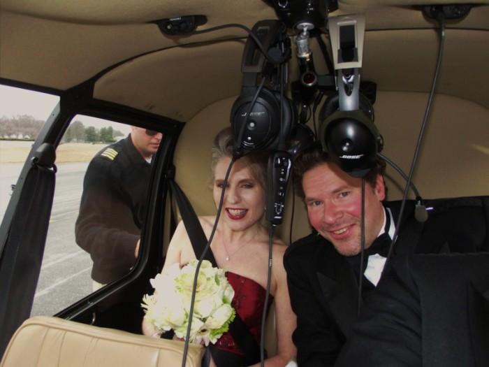 Aerial nuptials!