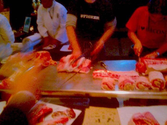Butchering demonstration from Pine Street Market