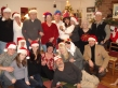 "The ""Stroh-gersons, both our families celebrating Christmas and the wedding together."