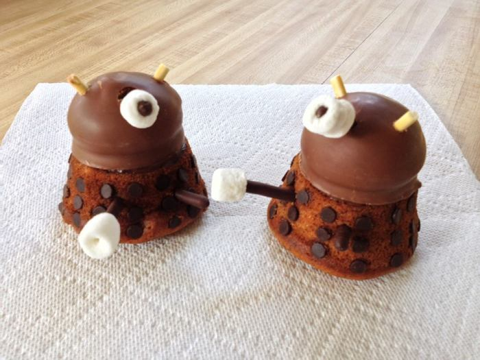 Twinkle's banana chocolate chip Daleks