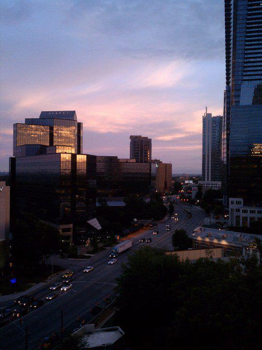Buckhead skyline at Sunset