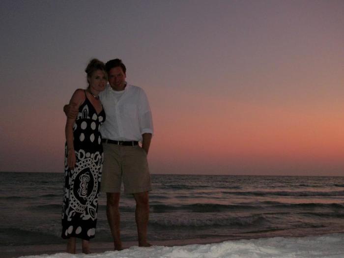 Miramar Beach, Florida with my lovely husband, David.