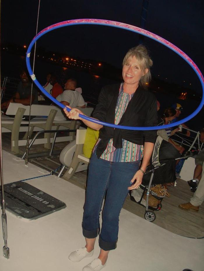 Hoola Hooping, Shipboard! #100happydays #day6