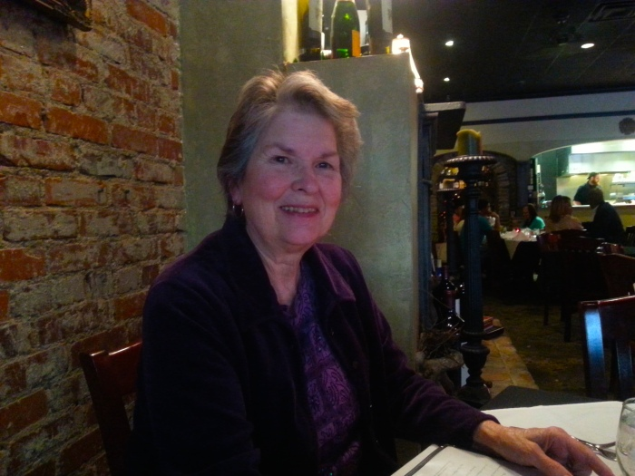 My mom-in-law, enjoying dinner and the show!
