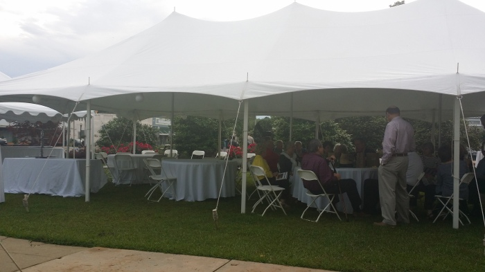 Post play catered dinner and cast party on the courthouse grounds
