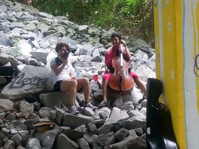 Mini concert from two very gifted musicians hanging out on the Beltline