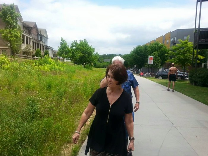 My folks chhecking out the Beltline for the first time